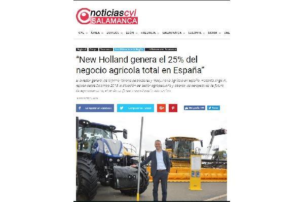 """""""New Holland genera el 25% del negocio agrícola total en España"""""""